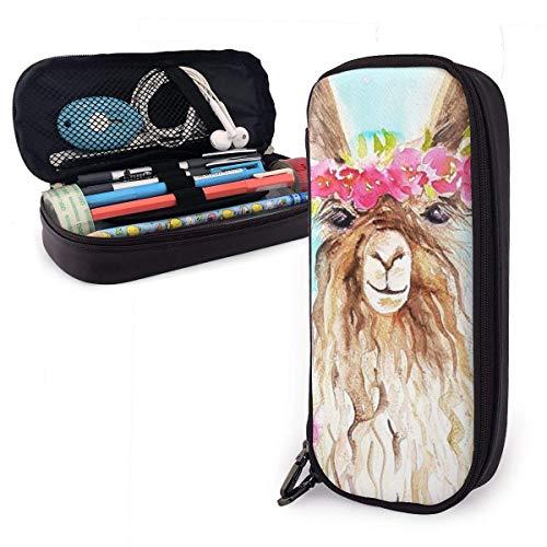 Estuche para lápices, estuche de gran capacidad, para material escolar, material de oficina y bolsa de transporte (lindo gato con signo de dólar americano)