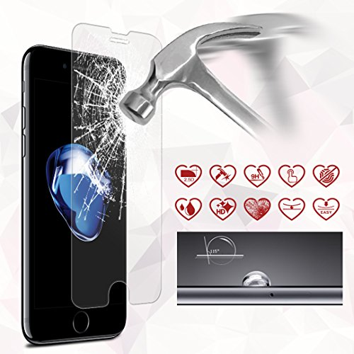 iCarez [Tempered Glass] Screen Protector for iPhone 8 Plus iPhone 7 Plus 5.5-inch Easy Install [0.33MM 9H 2.5D 2-Pack] with Lifetime Replacement Warranty