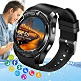 Amokeoo Smart Watch,Android Smartwatch Touch Screen Bluetooth Smart Watch for Android iOS Phones Wrist Phone Watch with SIM Card Slot & Camera,Waterproof Fitness Tracker Sports Watch for Women Men
