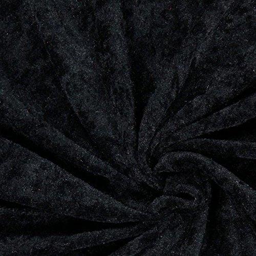 Fabulous Fabrics Pannesamt schwarz – Weicher Samt Stoff zum Nähen von Kleider, Oberteile, Tücher und Tischdecke - Pannesamt Dekostoff & Bekleidungsstoff - Meterware ab 0,5m