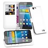Cadorabo Hülle für Huawei G7 - Hülle in ARKTIS WEIß –