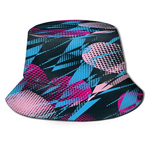 TTLUCKY Sombrero de Pesca,Patrón Abstracto Vector Transparente con Corazones Chicas,Senderismo para Hombres y Mujeres al Aire Libre Sombrero de Cubo Sombrero para el Sol