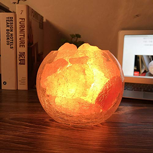 Verdelif 2-3 Kg Himalayan Salt Lamp Night Light Crystal Light Home Decor Accessory with Dimmer Switch 100% Original Crystals Night Lamp for Bedroom Gifts for Men and Women