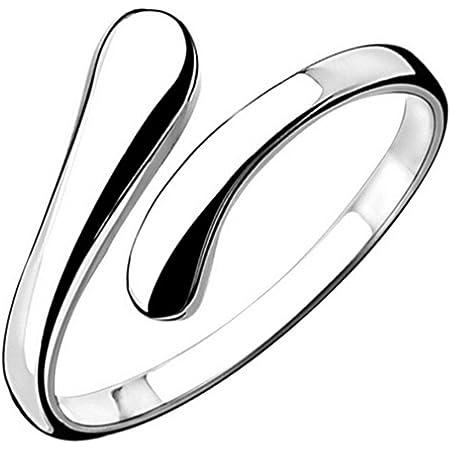 Women's 925Sterling Silver Simple Open Adjustable Rings