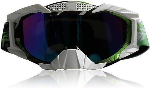 DZW Lunettes de vélo de montagne Moto Lunettes de ski de fond Miroir de ski chaud Lunettes de sablage Lunettes de prougeection , water transfer -3