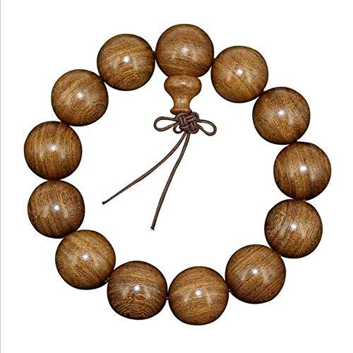 Mes-Bijoux-Bracelets Bracelet Charms et Perle Cadeau Femme Bijou Bois Santal 15mm Mixte Marron Perle Nœud tibétain wz-B0048