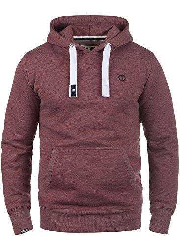 !Solid BennHood Herren Kapuzenpullover Hoodie Pullover mit Kapuze, Größe:L, Farbe:Wine Red Melange (8985)