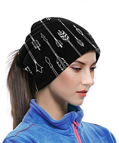 EINST Pasamontañas de microfibra, diseño de flechas tribales, estilo hipster, estilo azteca, para el cuello
