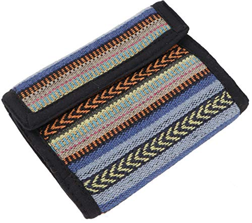 Guru-Shop Ethno Stoff Portemonnaie Nepal - Model 2, Herren/Damen, Mehrfarbig, Baumwolle, Size:One Size, 10x11 cm, Portemonnaies aus Stoff
