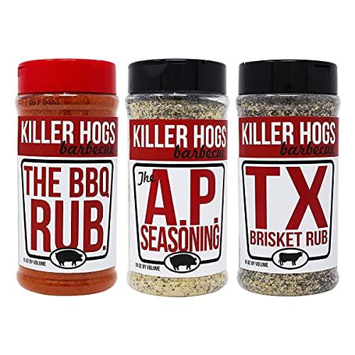 Killer Hogs The BBQ Rub + AP Seasoning + TX Brisket Bundle
