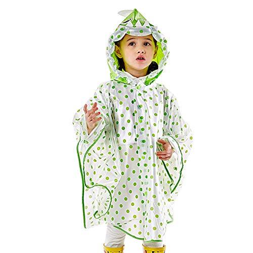 Guyuan Manteau de Pluie pour Enfants garçons et Filles avec cartables Bébé Enfant Randonnée pédestre en Plein air Enfant Étudiant Cape Poncho (Color : Yellow, Size : S)