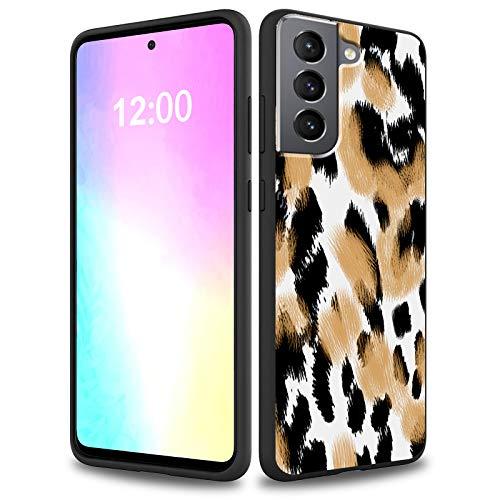 Rossy Funda para Samsung Galaxy S21 2021, suave gel de silicona líquida, forro de microfibra delgada, antiarañazos, a prueba de golpes, para Samsung S21/S30 6.4 pulgadas 2021, estampado de leo