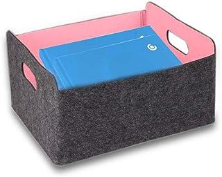 Boîte de rangement en tissu, JanTeelGO Boîtes de rangement pliables avec poignées de transport, Boîte de rangement Cube, P...