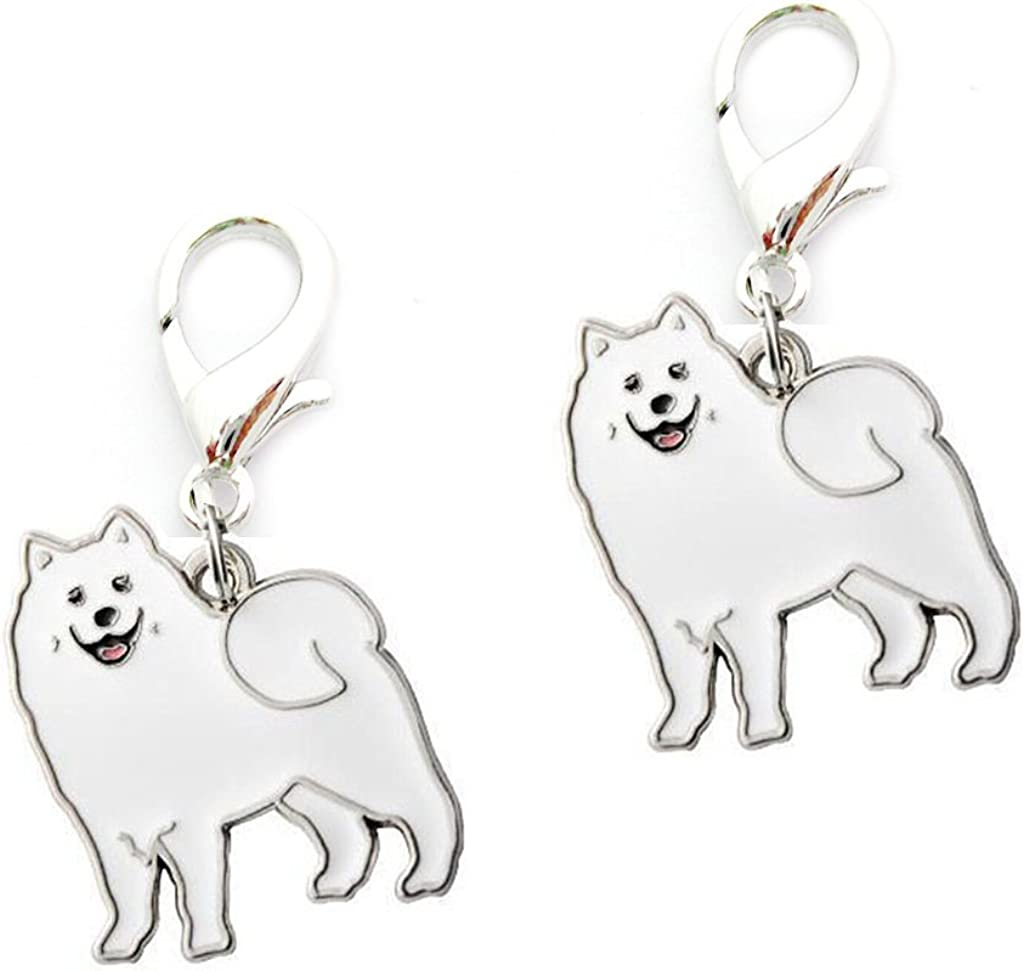 BBEART Key Ring, 2 pcs Cute Pet Dogs Shape Metal Key Chain Keychains Holders Keyring