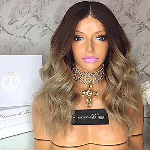 MZP Damen Echthaar Perücken mit Spitze Haare mit intakter Kutikula (Remy Hair) Spitzenfront Ohne Klebstoff und Spitze in der Front 130% , 130%