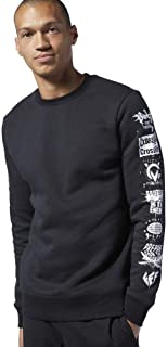 Reebok Men's Rc Sleeve Icons Crew Sweatshirt