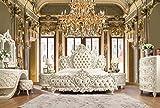 Homey Design New Luxarious Royal European Button Tuft Bedroom Set King 5 Pcs.