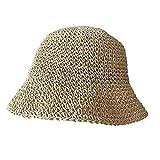 Cappelli di paglia delle donne Panama Caps Beach Hat Estate Protezione UV Bowknot Caps Panama Floppy Beach Cappelli Signore Bow Hat 2 Taglia unica