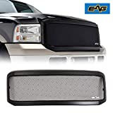 EAG Replacement Grille Black Stainless Steel Wire Mesh with ABS Shell Fit for 05-07 F250/F350
