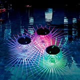 Solar Floating Ball Disco Pool and Pond Light with 7 Colors, Waterproof Wireless Auto Changing Multicolor LED Show Decor Lighting Accessory Plastic Balls for Swim Pools, Ponds, and Beach House (1Pack)