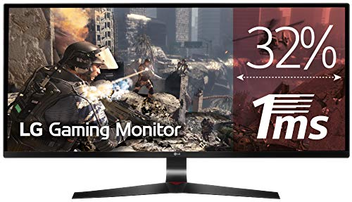 LG 34UM69G-B - Monitor Gaming UltraWide WFHD de 86.7 cm (34') con Panel IPS (2560 x 1080 píxeles, 21:9, 1 ms con MBR, 75Hz, FreeSync, 250 cd/m², 1000:1, sRGB 99%, DPx1, HDMIx1, USB-Cx1) Color Negro