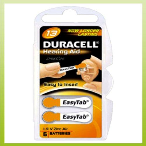 Duracell V13 6-BL (PR48/DA13) Single-use battery Zink-Luft 1,4 V - Batterien (Single-use battery, Zink-Luft, Knopf/Münze, 1,4 V, 6 Stück(e), 310 mAh)