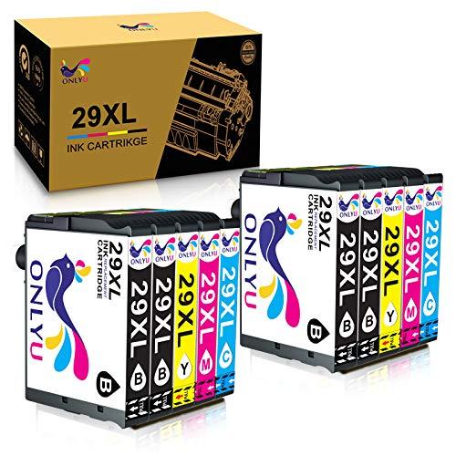 ONLYU Cartucho de Tinta Compatible para Epson 29XL Reemplazo para Epson 29 Expression Home XP-235 XP-245 XP-247 XP-335 XP-342 XP-345 XP-332 XP-330 XP-430 XP-432 XP-435 (Paquete de 10)