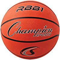 Champion Sports Official Heavy Duty Rubber Cover Nylon Basketball (Size 7,Orange)