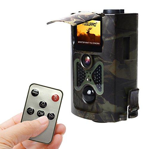Wildkamera, TOGUARD® H50 12MP 1080P Full HD Jagdkamera 120°Breite Vision Infrarote 20m Nachtsicht  mit Fernbedienung Überwachungskamera