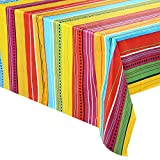 4 pcs Cinco De Mayo Printed Plastic Tablecover w/ Vivid Muti-Colored (54 x 108 INCHES) for Fiesta, Taco Night, Birthday, and Mexican Themed Party