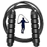Xkfgcm 3m / 9.8Pies Cuerda para Saltar Comba Saltar Gears Fácilmente Ajustable Longitud con Mango de Espuma de Suave y Cuerda Ajustable Libre y Rodamientos para Fitness Boxeo y Quema Grasa 350g