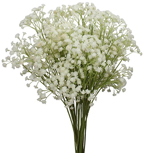 Duovlo 10pcs Babies Breath Flowers 23.6' Artificial Gypsophila Bouquets Real Touch Flowers for Wedding Home DIY Decor