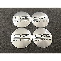 【並行輸入品】OZ RACING用 4個セット ホイール キャップシール 約直径56.5mm ホイールセンター ロゴあり OZ RACING