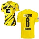 PUMA Borussia Dortmund BVB Heimtrikot 2020 2021 Home Trikot Sponsor BL Logo Kinder Mahmoud Dahoud 8 Gr 176