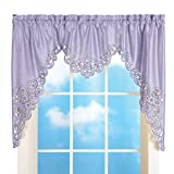 Collections Etc Elegant Scroll Window Valance Lavender 58' X 36'
