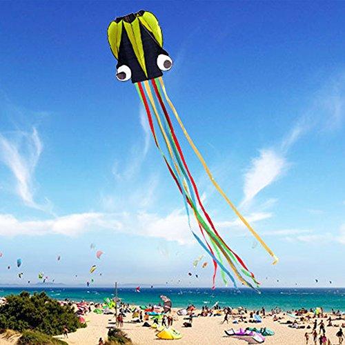 GGG 4M Ligne simple Stunt multi-couleurs Jeu de Plein Air cerf-volants Prêt à voler Outdoor Sport Jouets Nouveau - Noir vert