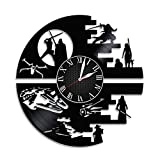 DARTH VADER STAR WARS Handmade Vinyl Record Wall Clock - Get unique home room wall decor - Gift ideas for parents, teens – Epic Movie Unique Modern Art