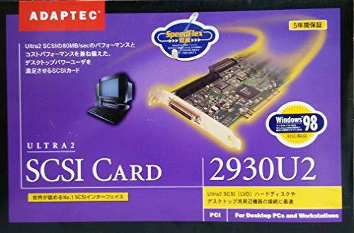 アダプテック Adaptec PCIバス対応 Ultra2 SCSI 2930U2 インターフェイスカード 外部 50pin,内部 68pin + 50pin で Ultra SCSIにも対応