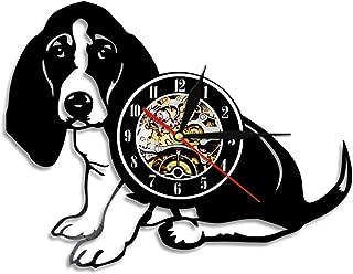 ユニークなビニールレコードの壁掛け時計、リビングルームの装飾掛け時計 12'' サイレントクォーツムーブメント レトロな郷愁 クリエイティブウォールデコレーションギフト