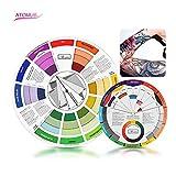ATOMUS Guida Per Colori Misti Per Tatuaggi E Tatuaggi Permanenti Per Sopracciglia Labbra Body Tatuaggio(5.51in & 9.25in)