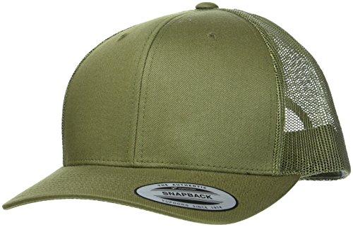 Flexfit Snapback Unisex Baseball-Mütze | Trucker Kappe Mesh Basecap, Grün (Buck), Gr. One size