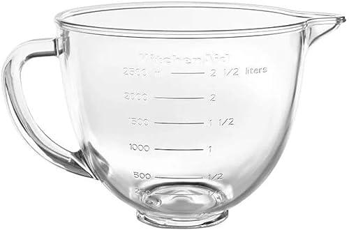 popular KitchenAid 3.5-Quart Glass lowest Bowl (Fits KitchenAid Tilt-Head Mini 3.5-Quart Stand online sale Mixers) outlet online sale