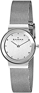 Skagen Women's Ancher Quartz Stainless Steel and mesh Watch Color: silver, (Model: 358SSSD)