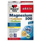 Doppelherz Magnesium + Calcium + Kalium – Hochdosiertes Magnesium als Beitrag für die normale Muskelfunktion – 30 Tabletten
