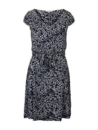 Tom Tailor 1026052 Feminine Vestido, 27224 Navy Offwhite Flower, 48 para Mujer