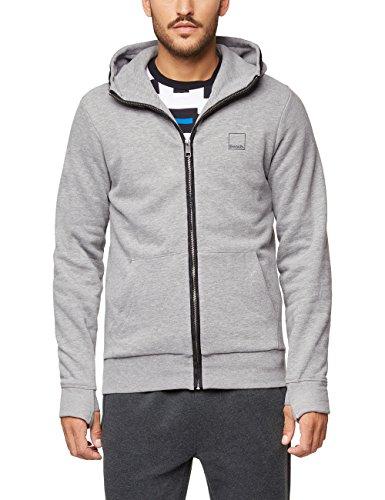 Bench Herren CORE. Sweat Zip Jacket Sweatshirt, Grau (Winter Grey Marl Ma1054), X-Large