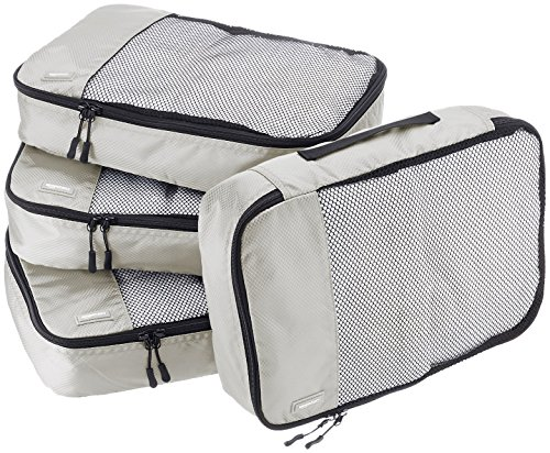 AmazonBasics Packing Cubes - Medium (4-Piece Set), Gray