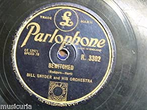 78 rpm BILL SNYDER & ORCH bewitched / drifting sands