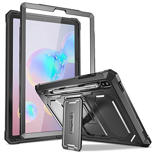 Fintie Hülle für Samsung Galaxy Tab S6 10.5 2019 - Ganzkörper-Rugged Hybrid Stand Schutzhülle mit eingebauter Schutzfolie für Samsung Tab S6 SM-T860/SM-T865, Schwarz