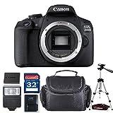 Canon EOS 2000D DSLR Camera (Body Only) + Professional Accessory Bundle, European model [No Warranty]